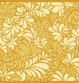 damask teardrop gold ornament seamless pattern vector image