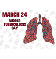 doodle drawing lung a day fighting disease vector image