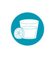 drinks glass cup and slice lemon cocktail blue vector image vector image