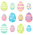 easter eggs - decorated eggs vector image vector image