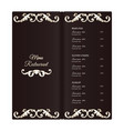 elegant vertical restaurant menu template it is vector image vector image