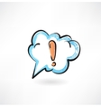 exclamation mark in the cloud vector image vector image