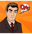 Exhausted Businessman Sad Man with Expression OMG vector image vector image