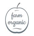 farm organic logo simple style vector image