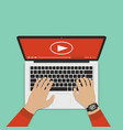 flat design concepts online video vector image