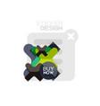 flat design cross shape geometric sticker icon vector image vector image