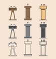 flat design in icon set lectern symbol vector image