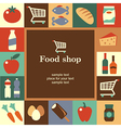food shop frame vector image vector image
