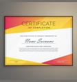 geometric certificate design template vector image vector image