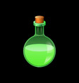 green glass flask icon cartoon style vector image