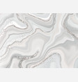 hand painted watercolour abstract with silver vector image vector image