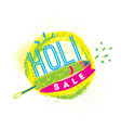 happy holi indian festival of colors vector image vector image