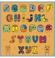 Hipster alphabet vector image vector image