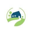 home garden logo vector image vector image