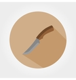 Hunting knife Icon vector image