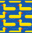inflatable duck seamless pattern toy for swimming vector image vector image