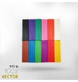 Isolated colorful plasticine vector image vector image