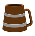 isolated wooden beer mug vector image