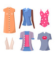 jackets and shirts set poster vector image vector image