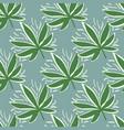 marijuana green leaves simple seamless pattern vector image vector image