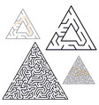 maze labyrinth in flat style vector image vector image