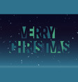 merry christmas geometric cutout letters banner vector image