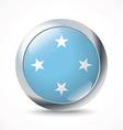 Micronesia flag button vector image vector image