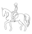 one line horse design silhouette hand drawn vector image vector image