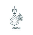 onion line icon linear concept outline vector image
