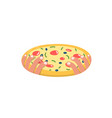 pizza flat icon with two hands vector image
