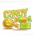 poster for candy vector image