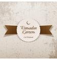 Ramadan Kareem Eid Mubarak religious Label vector image