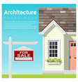 real estate investment background house for sale vector image vector image