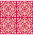 red royal pattern vector image vector image