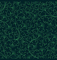 seamless luxury ornamental background blue damask vector image vector image