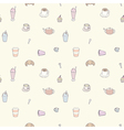 Seamless pattern of Coffee shop objects vector image vector image