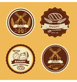 Set of vintage bakery badges and labels Retro vector image vector image