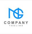 simple ng gn ngi initials company logo vector image vector image