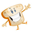 smiling bread on white background vector image vector image