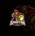 spartan mascot sport logo design vector image