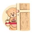 Teddy Bear with breakfast vector image vector image
