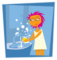 thorough hand washing life in quarantine vector image vector image