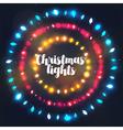 Three circle Christmas light borders vector image