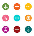 urban movement icons set flat style vector image vector image
