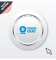 Video chat sign icon Webcam video talk vector image