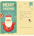 Vintage Postcard with Santa vector image