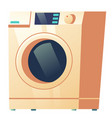 washing machine front view isolated on white icon vector image vector image