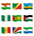 Waving flags of different countries vector image