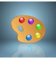 Wooden art palette icon vector image