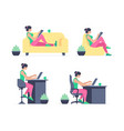 working at home vector image vector image